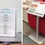 Menu stands and displays which are freestanding | BEL Signs