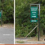 Hanging Roadside Sign for Horsham Golf and Fitness