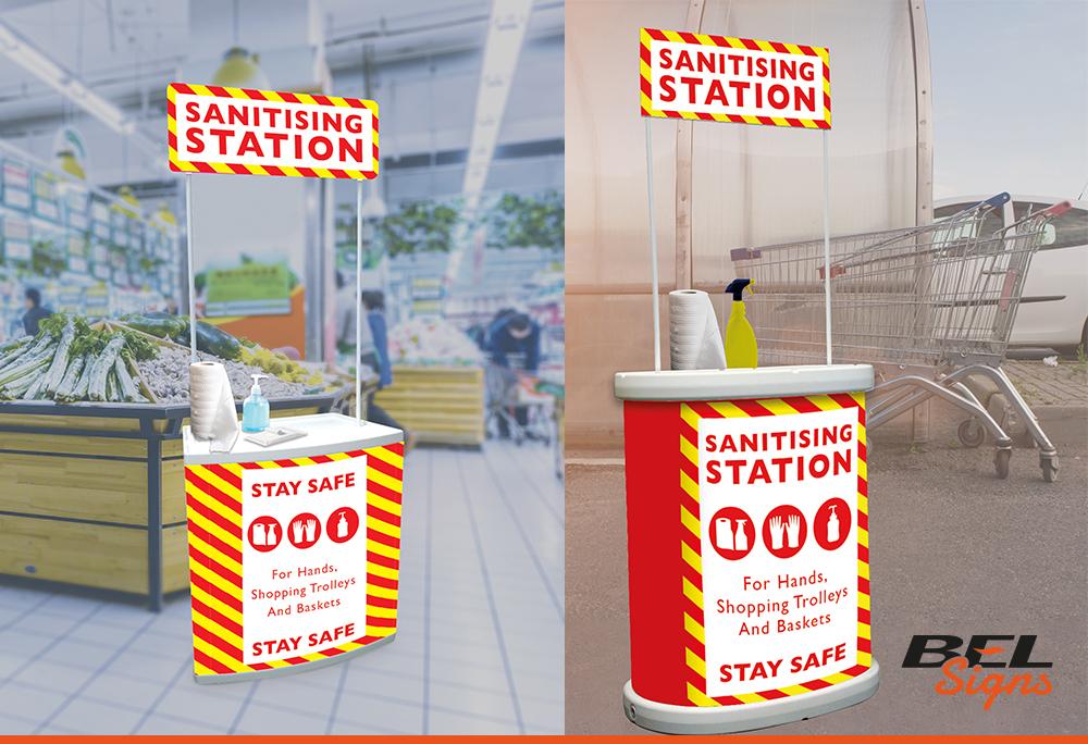Branded Sanitising Station   Covid19 Safety Signage