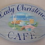 Artistic hand painted signage for local cafe