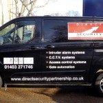 Direct Security Van - Signwritten By BEL