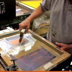 Our Screen Printer hard at work