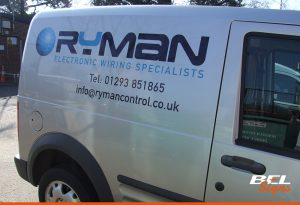 Ryman Control | Crawley Van Signwriting