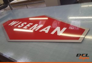 Wiseman Exterior Signage for Crawley Based Company