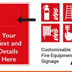 Fire Equipment Signage can be made to suit your requirements