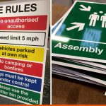 Site Rules for Horsham Camp Site and Assembly Point signage | BEL Signs