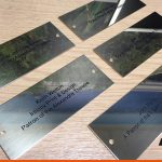 Plaques for chairs at a local theatre | Custom made plaques
