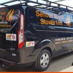 Ford Transit Custom with vinyl graphics