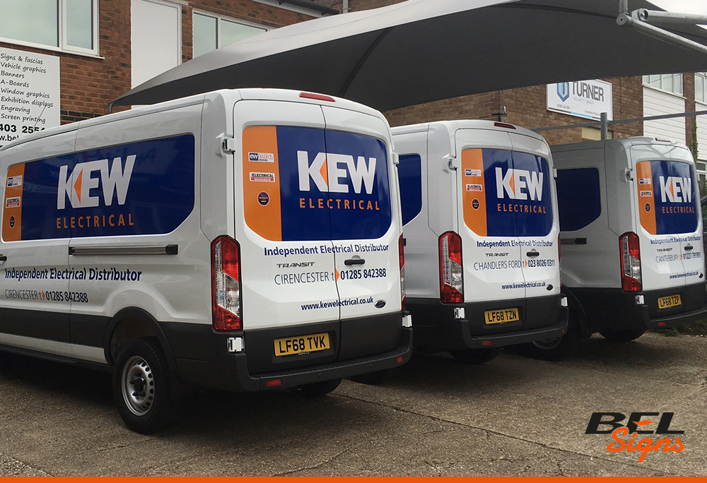 Long Wheel Based vans with Fleet Graphics