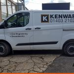 Van Sign Writing for Kenward with printed logo
