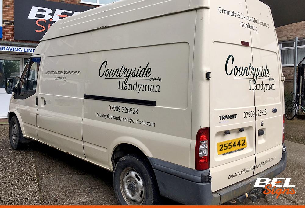 Basic van graphics for Countryside Handyman