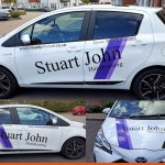 Car Graphics for Hairdressers | Epsom | Toyota Yaris