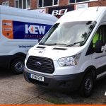 Fleet van graphics for KEW Electrical | Panel Grahics | South East Signage
