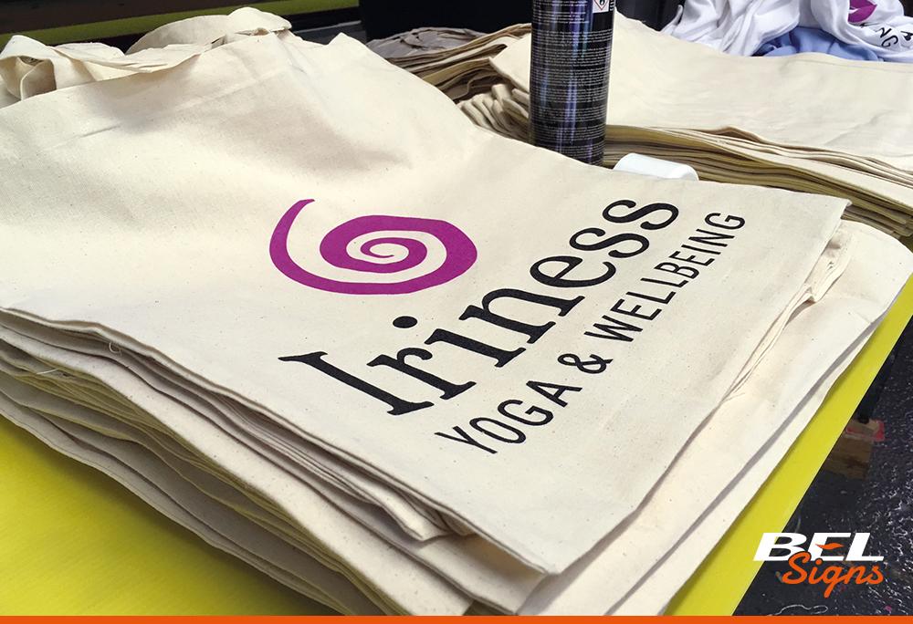 Screen Printed promotional bags