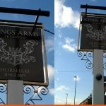 Kings Arms Pub Traditional Hanging Sign