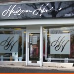 Hair Salon Shop Signage with Etch Film