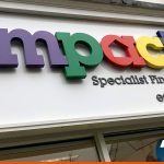 Lettering for Impact shop signage