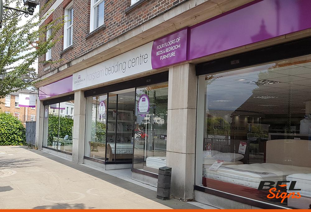 Horsham Bedding Centre Rebrand Signage