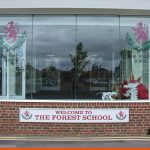 School Window Graphics using CAD Cut vinyl