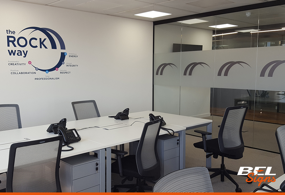 Etch film with wall graphics | Sign Company Horsham