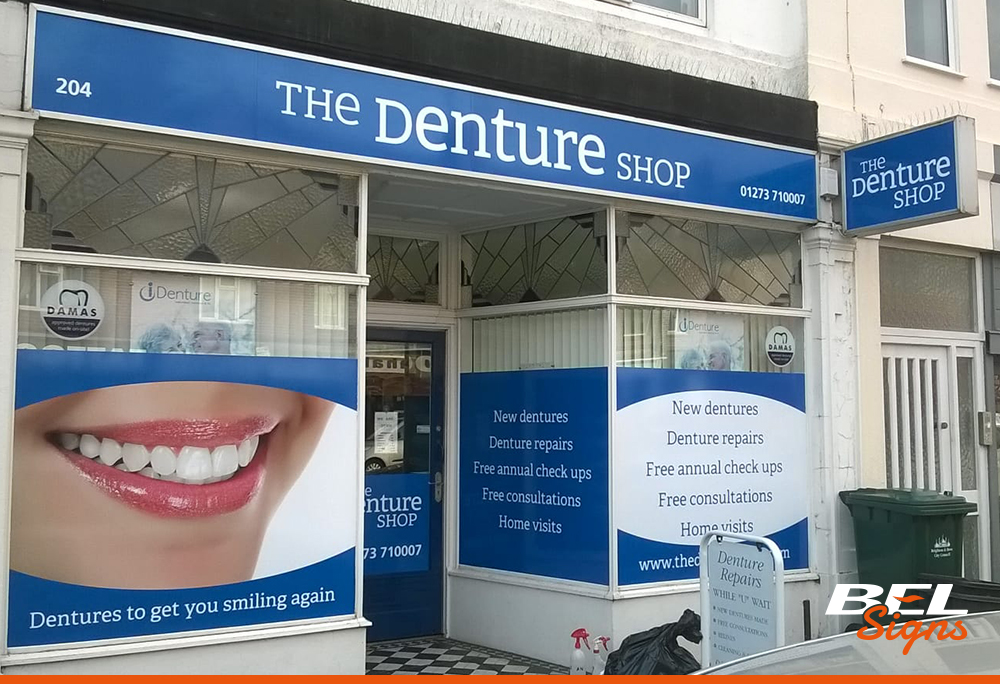 Printed Shop Signage with Window Graphics