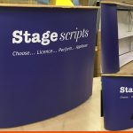 Large printed podium for Stage Scripts