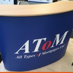 Podium or table we can print graphics for your display items
