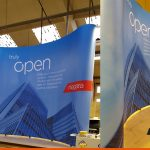 Curved Pop Up Display | Exhibition Graphics