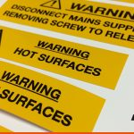 Hazard Stickers with warnings