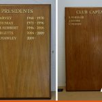 We can hand paint details onto honours boards - gold shown here