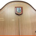Shaped Honours Board with 3D Badge