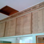 Tennis Club Honours Boards with CAD Cut text