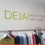 Interior retail shop wall decal using CAD Cut Vinyl