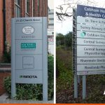 Signs on posts on the entrance to a property | BEL Signs