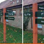 Wayfinding finger posts for local Horsham Golf Club