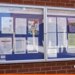 Local notice board for Southwater Parish Council