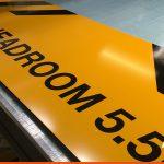 Maximum Headroom signage for Car Wash
