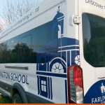 Minibus graphics for local school | Vehicle signwriting | School Signage