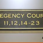Slate Sign with Gold inlaid text and border