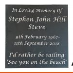 Slate memorial plaque | BEL Signs