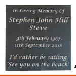 Slate memorial plaque | BEL Signs