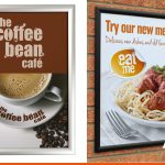Poster frames   We can supply frames and large format print   BEL Signs