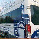 Minibus graphics for local school | Vehicle signwriting | School Signage