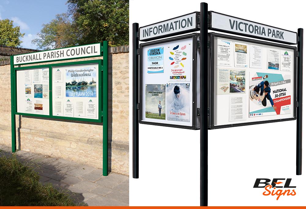 Exterior Notice Boards Poster Frames Bel Signs