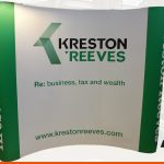 Simple but effective backdrop display graphics | BEL Signs Horsham