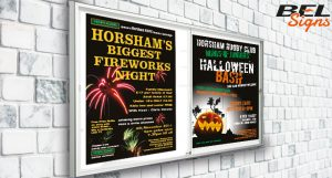 Printed Posters in Notice board frames