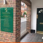 Directory sign fitted to exterior wall in Horsham | Healthcare