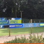 Printed signage for Fitness training installed to fencing   BEL Sign