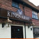 Pub signage for the Kings Arms in Horsham