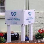 Dental signage on posts with print | BEL Signs